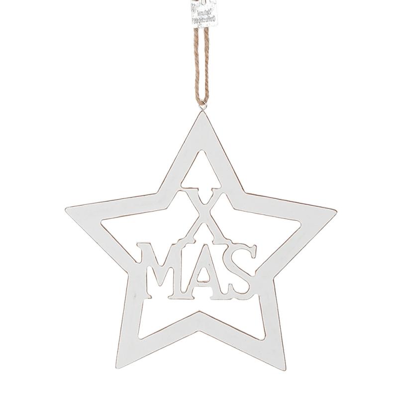 ΑΣΤΕΡΙ ΞΥΛΙΝΟ ΛΕΥΚΟ X-MAS 18ΕΚ.